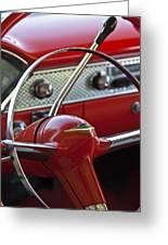 1955 Chevrolet Belair Nomad Steering Wheel Greeting Card by Jill Reger