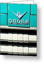 1955 Dodge C-3-b8 Pickup Truck Grille Emblem Greeting Card by Jill Reger