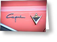 1955 Lincoln Capri Emblem 2 Greeting Card by Jill Reger