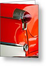 1955 Oldsmobile Taillight Greeting Card by Jill Reger