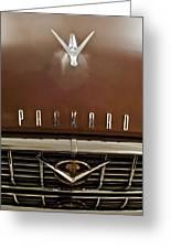 1955 Packard 400 Hood Ornament Greeting Card by Jill Reger