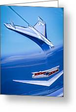 1956 Chevrolet 210 2-door Handyman Wagon Hood Ornament - Emblem Greeting Card by Jill Reger