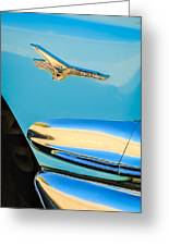 1956 Ford Fairlane Thunderbird Emblem Greeting Card by Jill Reger