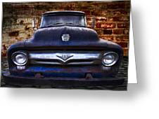 1956 Ford V8 Greeting Card by Debra and Dave Vanderlaan