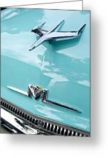 1956 Mercury Monterey Hood Ornament Greeting Card by Jill Reger