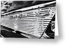 1957 Chevrolet Bel Air Monochrome Greeting Card by Tim Gainey