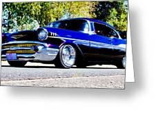 1957 Chevrolet Bel Air Greeting Card by Phil 'motography' Clark