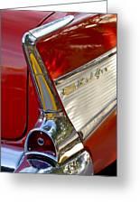 1957 Chevrolet Belair Taillight Greeting Card by Jill Reger