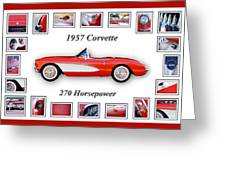 1957 Chevrolet Corvette Art Greeting Card by Jill Reger