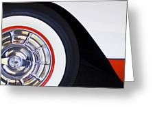 1957 Chevrolet Corvette Wheel Greeting Card by Jill Reger