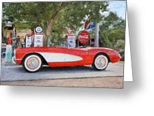 1957 Chevy Corvette Greeting Card by Robert Jensen