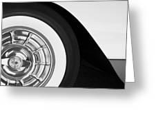 1957 Corvette Wheel Greeting Card by Jill Reger