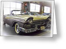 1957 Ford Fairlane Greeting Card by Steve Benefiel