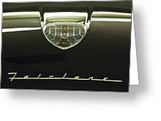1958 Ford Fairlane 500 Victoria Hood Ornament Greeting Card by Jill Reger