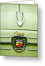 1959 Fiat 600 Derivazione 750 Abarth Hood Ornament Greeting Card by Jill Reger