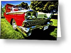 1959 Ford Fairlane 500 Skyliner Greeting Card by motography aka Phil Clark