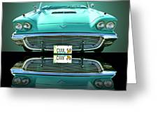 1959 Ford T Bird Greeting Card by Jim Carrell