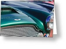 1960 Aston Martin Db4 Series II Grille - Hood Emblem Greeting Card by Jill Reger