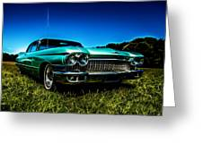 1960 Cadillac Coupe De Ville Greeting Card by motography aka Phil Clark