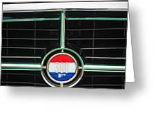 1960 Chrysler 300F Convertible Grille Emblem Greeting Card by Jill Reger