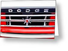 1960 Dodge Truck Grille Emblem Greeting Card by Jill Reger