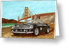1960 Ferrari 250 California G T Greeting Card by Jack Pumphrey