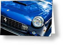 1960 Ferrari 250 Gtf Pinin Farina Cabriolet Series II Grille Emblem Greeting Card by Jill Reger