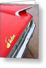 1960 Ford Galaxie Starliner Taillight Emblem Greeting Card by Jill Reger