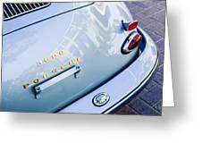 1960 Porsche 356 B 1600 Super Roadster Rear Emblem - Taillight Greeting Card by Jill Reger