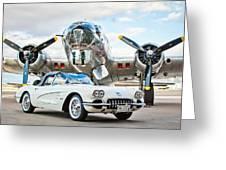 1961 Chevrolet Corvette Greeting Card by Jill Reger