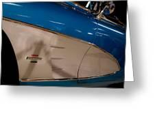 1961 Chevrolet Corvette V Greeting Card by David Patterson