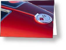 1963 Chevrolet Corvette Split Window Greeting Card by Jill Reger