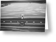 1963 Ford Falcon Sprint Convertible BW    Greeting Card by Rich Franco