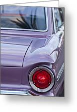 1963 Ford Falcon Tail Light Greeting Card by Jill Reger