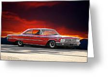 1963 Ford Galaxie 427 Greeting Card by Dave Koontz