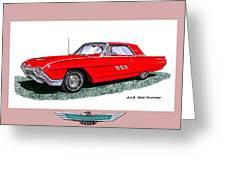 1963 Ford Thunderbird Greeting Card by Jack Pumphrey