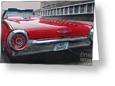 1963 Ford Thunderbird Greeting Card by Paul Kuras