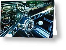 1965 Shelby Prototype Ford Mustang Steering Wheel Emblem 2 Greeting Card by Jill Reger