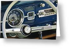 1965 Volkswagen Vw Beetle Steering Wheel Greeting Card by Jill Reger