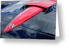 1966 Chevrolet Corvette Hood Emblem Greeting Card by Jill Reger