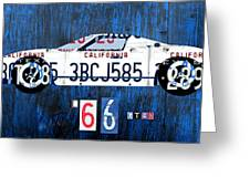 1966 Ford Gt40 License Plate Art By Design Turnpike Greeting Card by Design Turnpike