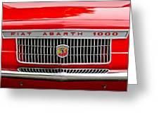 1967 Fiat Abarth 1000 Otr Grille Greeting Card by Jill Reger