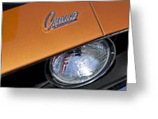 1969 Chevrolet Camaro Headlight Emblem Greeting Card by Jill Reger