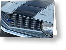 1969 Chevrolet Camaro Z 28 Grille Emblem Greeting Card by Jill Reger