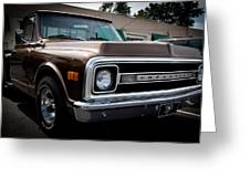 1969 Chevy Pickup Greeting Card by David Patterson