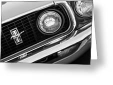 1969 Ford Mustang Boss 429 Grill Emblem Greeting Card by Jill Reger