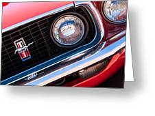 1969 Ford Mustang Boss 429 Grille Emblem Greeting Card by Jill Reger
