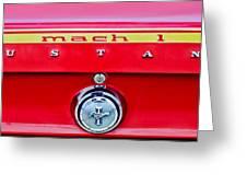 1969 Ford Mustang Mach 1 Rear Emblems Greeting Card by Jill Reger