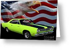1969 Plymouth Road Runner Tribute Greeting Card by Peter Piatt