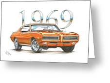 1969 Pontiac Gto Judge Greeting Card by Shannon Watts